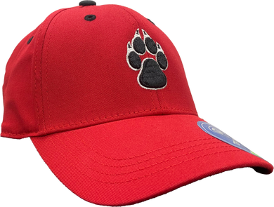 UNM Red Youth Hat with Paw