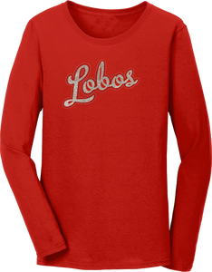 Lobos Ladies Glitter Script T-Shirt