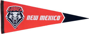 UNM Red & Black Shield Pennant
