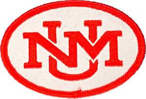 "UNM Monogram Patch - 2""x 3"""