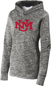 UNM Monogram Electric Gray Performance Hoodie