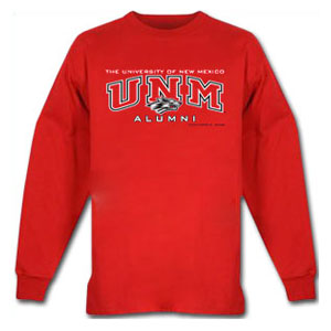 UNM Alumni Red Long Sleeve T-shirt