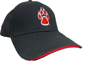 Black UNM Paw Adjustable Cap