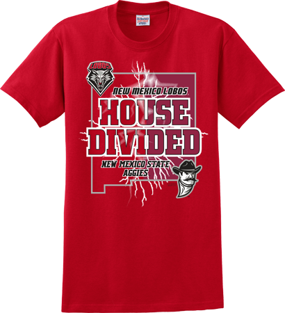 UNM House Divided Red T-Shirt