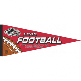 UNM Lobos Football Pennant