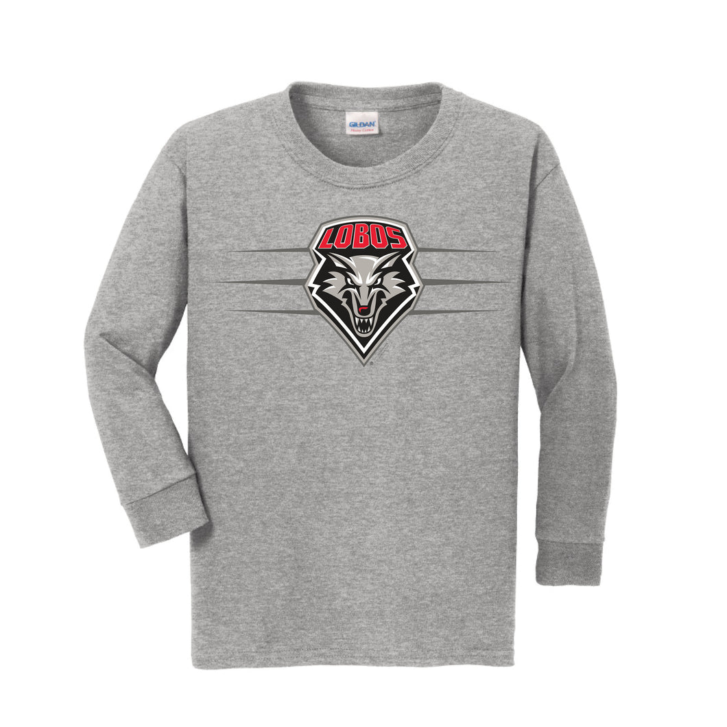 Gray Lobos Shield Long-Sleeve Performance Tee