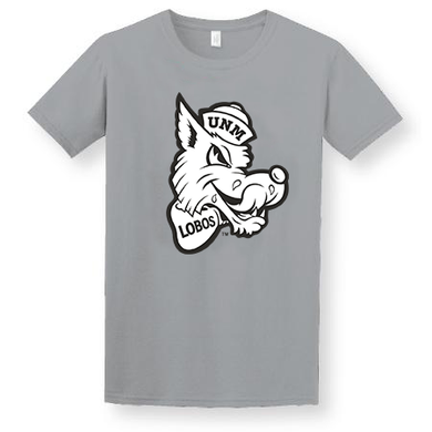 Grey T-shirt with Retro Lobo