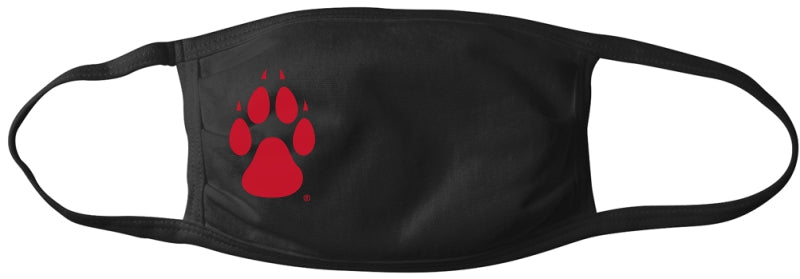 Black Lobos Mask with Red Paw