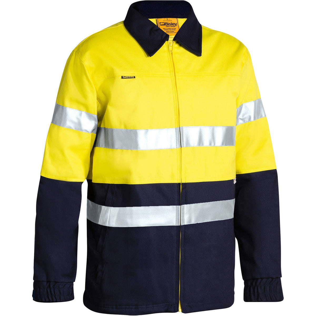 Bisley - 2 Tone Hi Vis Drill Jacket 3M Reflective Tape