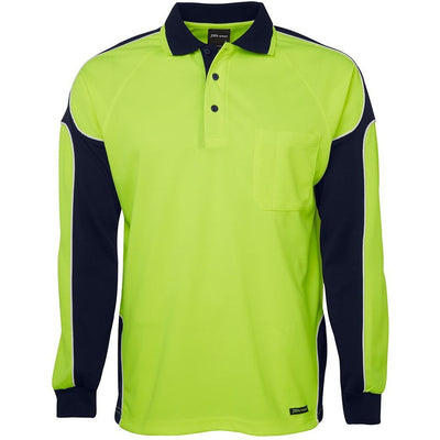 JBs Hi Vis 4602.1 Long Sleeve Arm Panel Polo