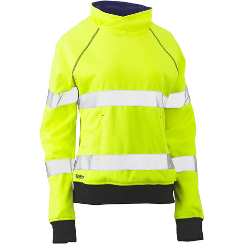Bisley Womens Taped Hi Vis Low Pill Fleece Jumper