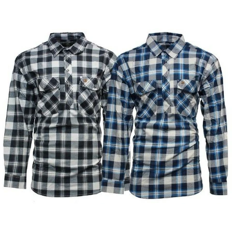 Swanndri Full Button Egmont Twin Pack Flannelette Shirts