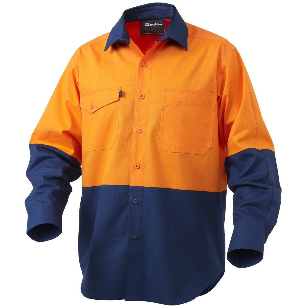 King Gee - Workcool2 Hi-Vis Spliced Shirt Long Sleeve