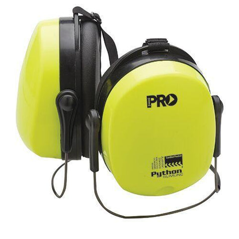 Pro Choice - Earmuffs Python Neckband - Hi Vis Yellow