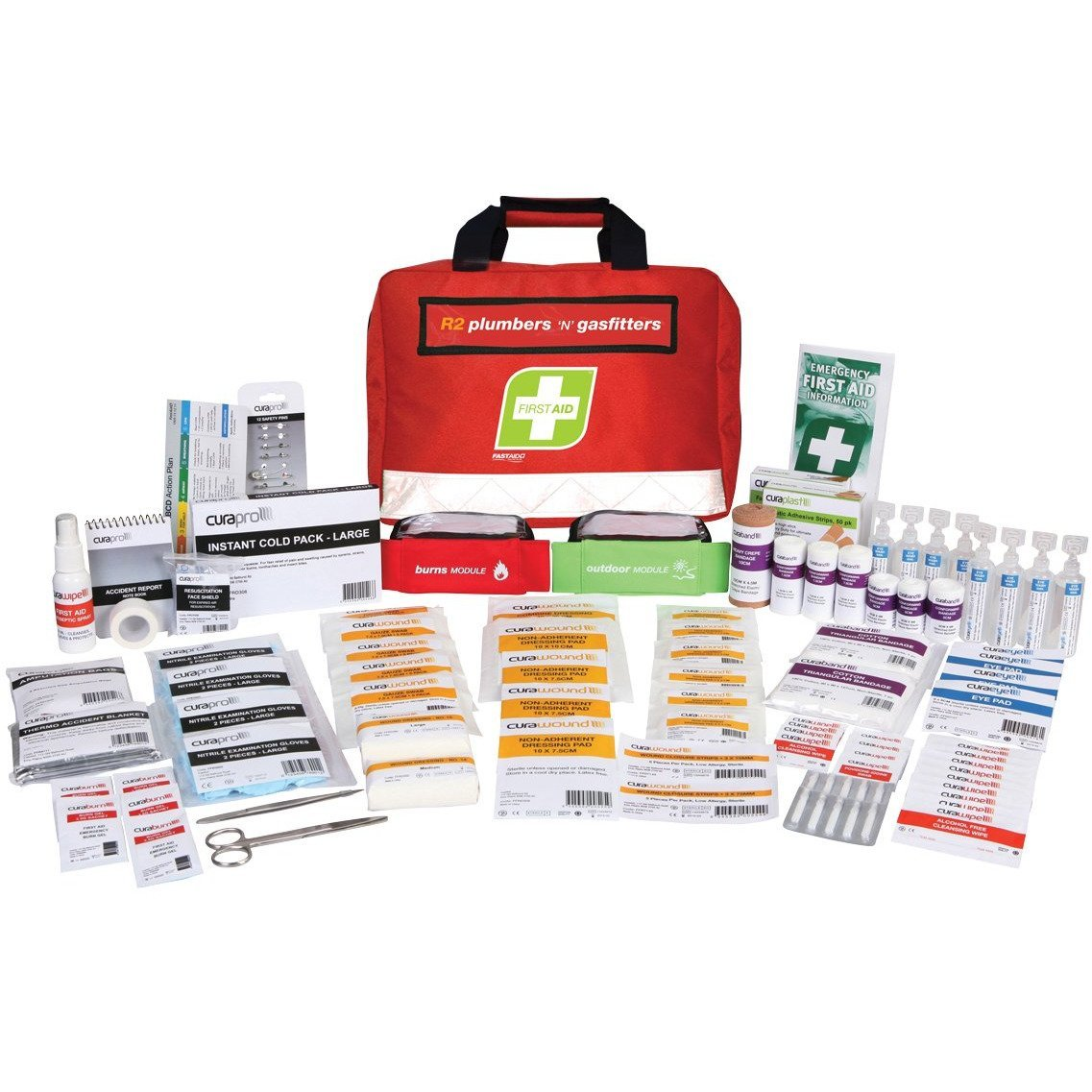 FastAid First Aid Kit- R2- Plumbers & Gasfitters Kit- Soft Pack
