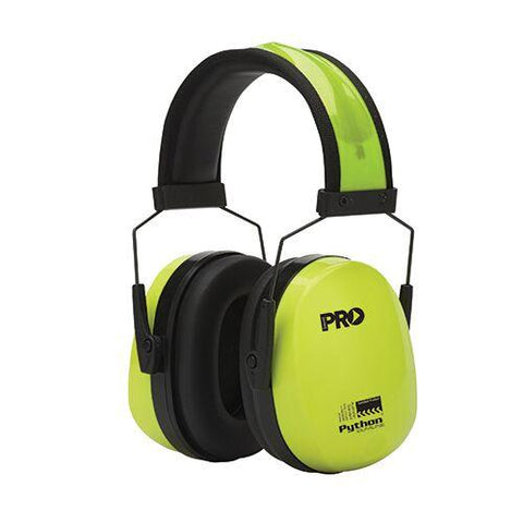 Pro Choice - Earmuffs Python - Slimline Hi Vis Yellow
