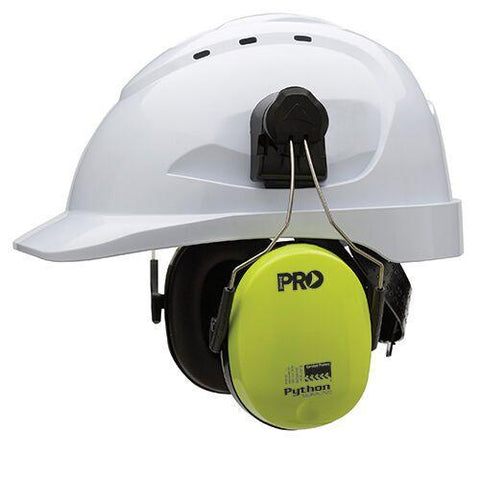 Pro Choice - Earmuffs Python Hard Hat - Slimline Hi Vis Yellow