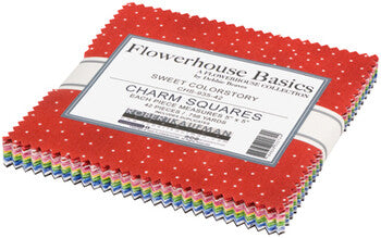 Flowerhouse by Debbie Beaves for Robert Kaufman-Charm Squares