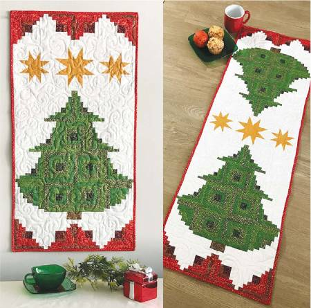Pine Tree Banner or Table Runner by Jean Ann Wright for Cut Loose Press