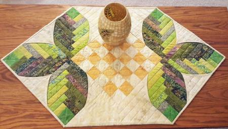 Cabin Leaves Table Runner by Nancy A. Myers for Cut Loose Press