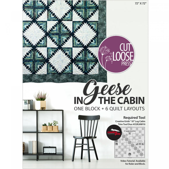Geese in the Cabin by Camilla Quilts for Cut Loose Press