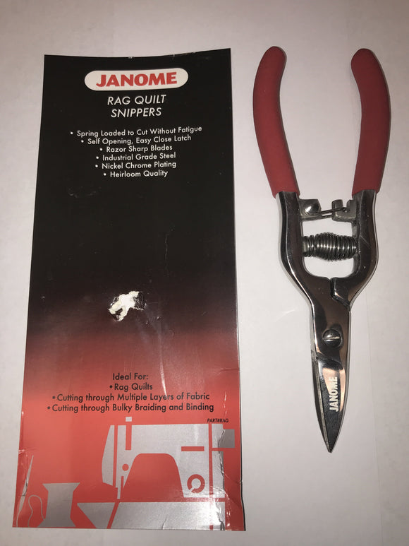 Janome Rag Quilt Snippers - Scissors