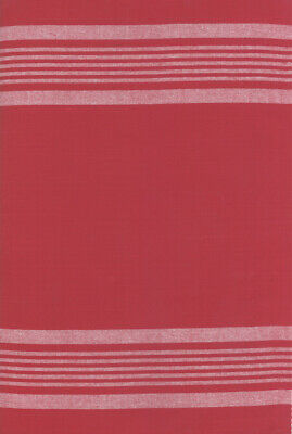 Rock Pool Tea Toweling-Red/White Stripes