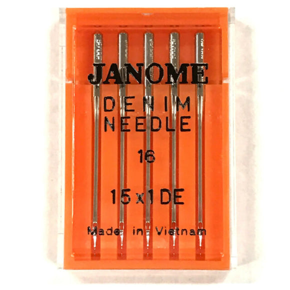 Janome-Denim Machine Needles # 16