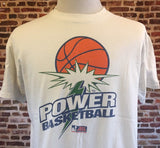 Vintage 90's PORTLAND POWER Men's Large Tee Shirt RARE Women's Professional Basketball