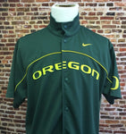 Vintage Early 00's Oregon Ducks Basketball On Court Warm Up Shirt