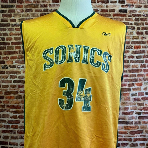 Vintage Ray Allen SEATTLE SUPER SONICS Men's Large Jersey made by Reebok