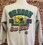Vintage OREGON DUCKS Football 1995 Rose Bowl Men's Small Crewneck Sweatshirt RARE