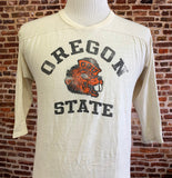 Vintage 70's OREGON STATE Beavers Mens Large Tee Shirt RARE