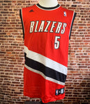 Vintage Rudy Fernandez PORTLAND TRAIL BLAZERS Men's Medium Authentic Jersey made by Adidas #5