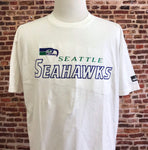 Vintage 90's SEATTLE SEAHAWKS Men's Large Embroidered Tee Shirt made by Puma RARE