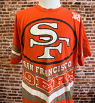 Vintage 90's SAN FRANCISCO 49ers Men's 2XL Tee Shirt Rare made by Salem Sportswear