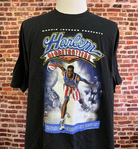 Vintage 90's HARLEM GLOBETROTTERS Men's 2XL World Tour Tee Shirt Rare