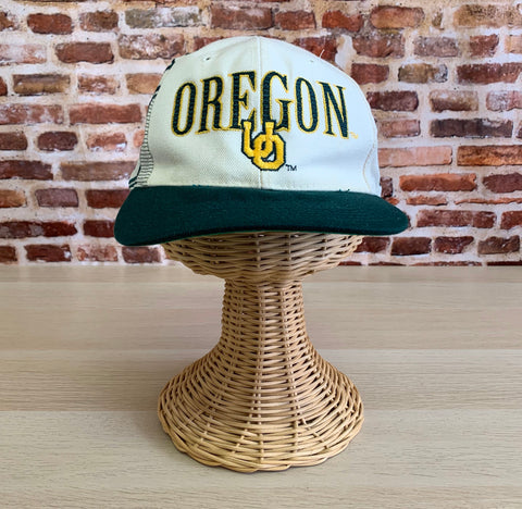 Vintage 90s OREGON DUCKS Embroidered Snapback Hat RARE made by Sports Specialties