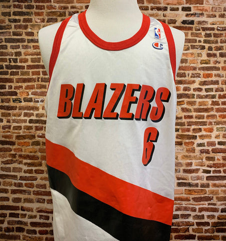 Vintage 90's BONZI WELLS Portland Trail Blazers Men's XL (Size 48) Jersey made by Champion