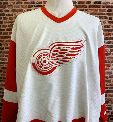 Vintage 90's Nike Detroit RED WINGS Men's XL Hockey Jersey Rare