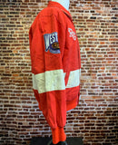 Vintage 90's DETROIT RED WINGS Men's Medium Leather Jeff Hamilton Jacket Rare