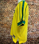 Vintage 90's BRAZIL SOCCER Men's Medium Jersey made by Nike RARE