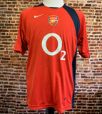 Vintage ARSENAL FC Men's Medium Soccer Jersey RARE made by Nike