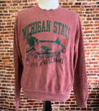 Vintage 80's MICHIGAN STATE Spartans 1988 Rose Bowl Men's Large Crewneck Sweatshirt made by Champion