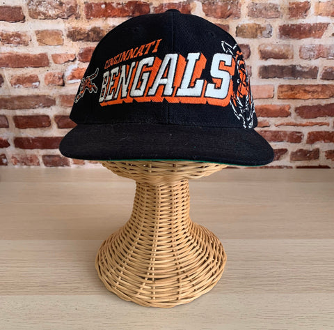 Vintage 90's CINCINNATI BENGALS One Size Fits All Snapback Hat RARE made by Sports Specialties