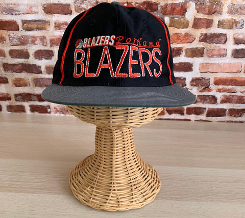 Vintage 90s PORTLAND TRAIL BLAZERS Snapback Hat made by The Game