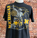 Vintage 90's Michigan Wolverines Men's XL Tee Shirt RARE made by Nutmeg Mills