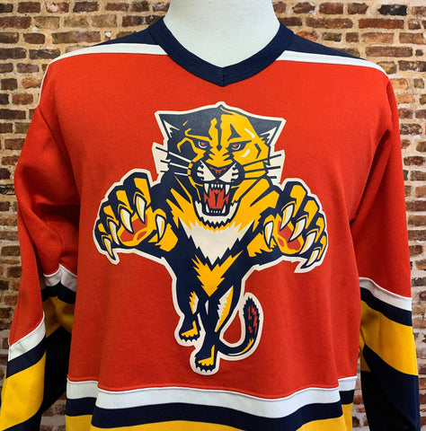 Vintage 90's FLORIDA PANTHERS Men's Small Hockey Jersey Rare made by CCM