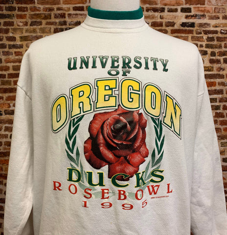 Vintage OREGON DUCKS Football 1995 Rose Bowl Men's XL Crewneck Sweatshirt Rare