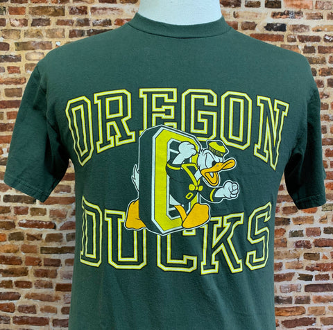 Vintage 90's OREGON DUCKS Men's Medium Tee Shirt RARE made by Champion